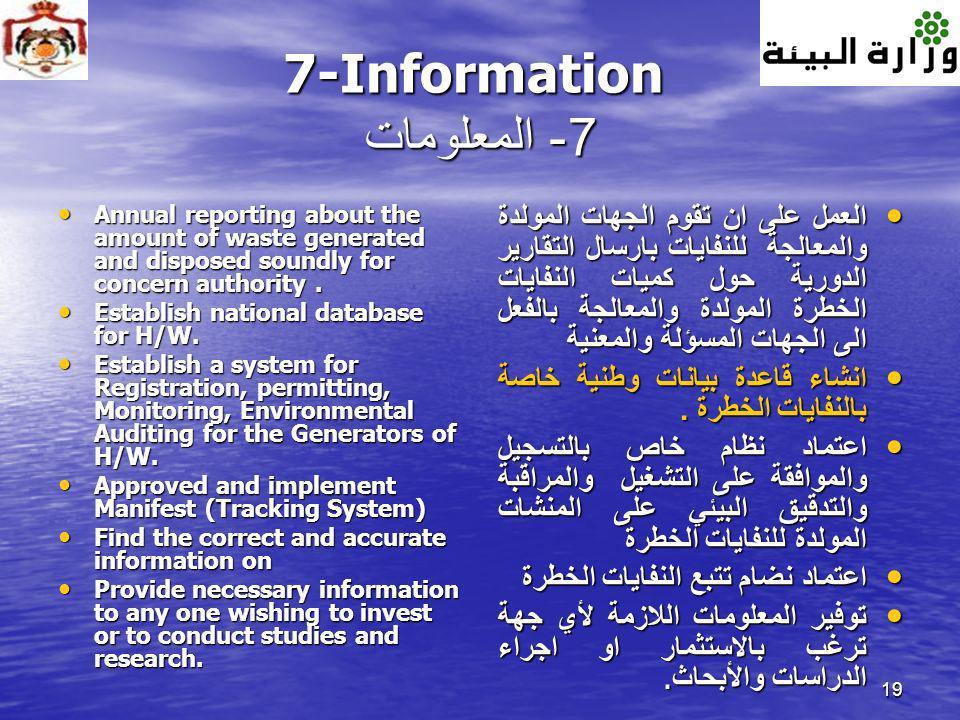 7-Information 7- المعلومات