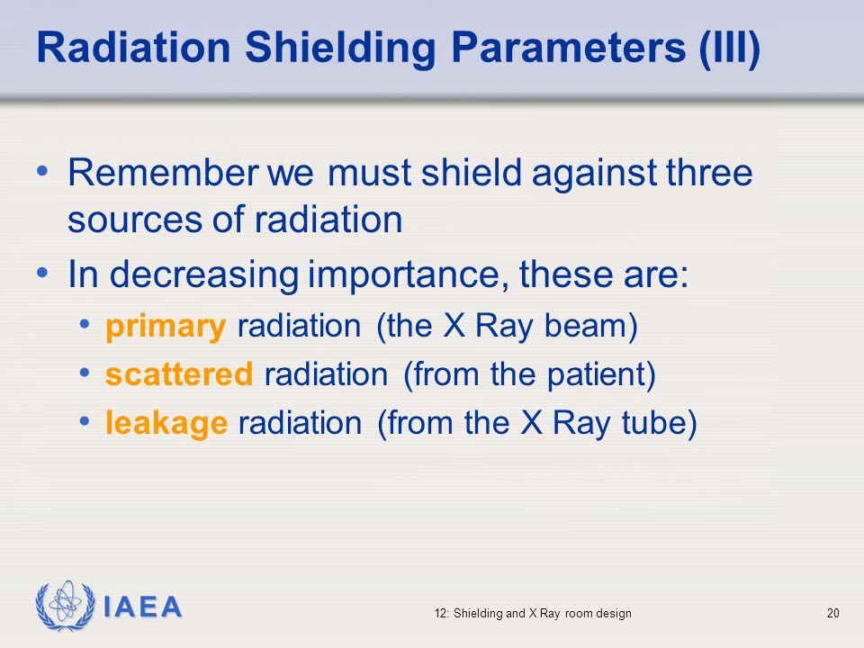 Radiation Shielding Parameters (III)