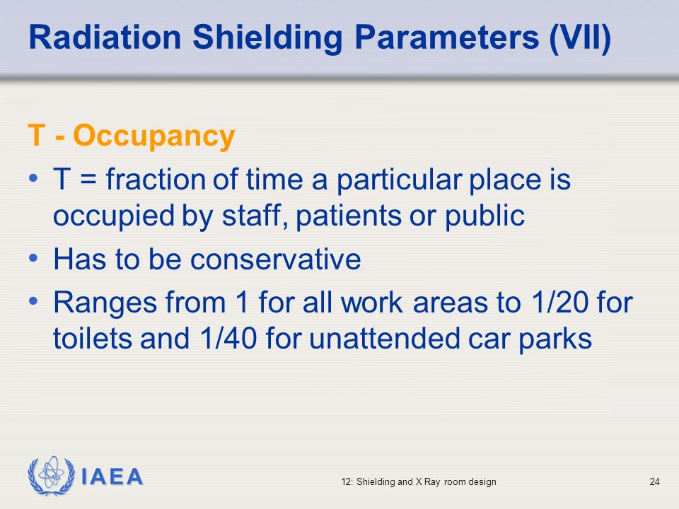 Radiation Shielding Parameters (VII)