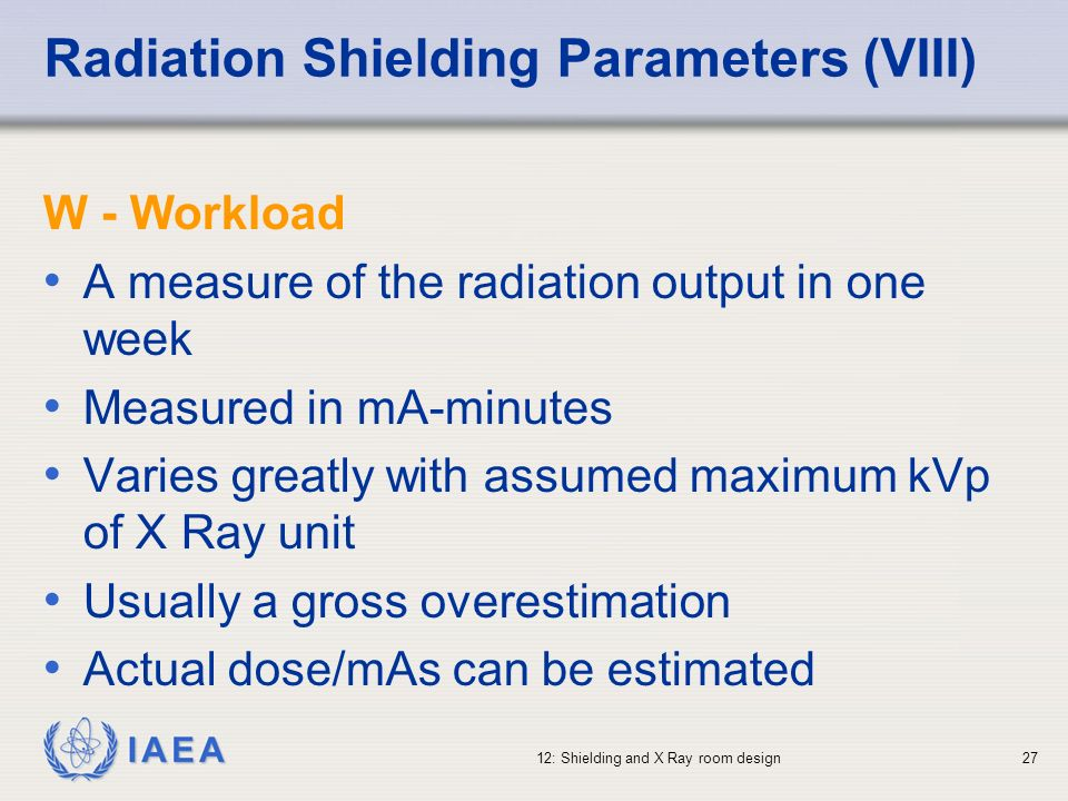 Radiation Shielding Parameters (VIII)