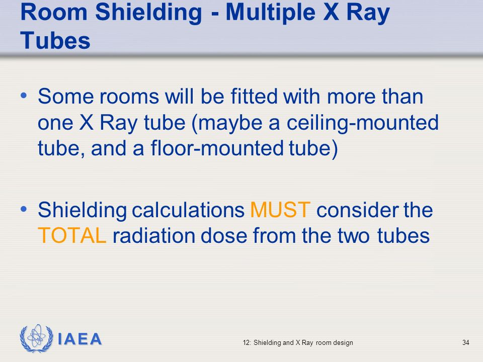 Room Shielding - Multiple X Ray Tubes