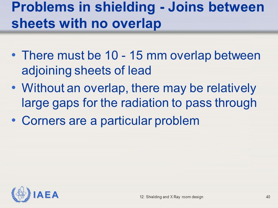 Problems in shielding - Joins between sheets with no overlap