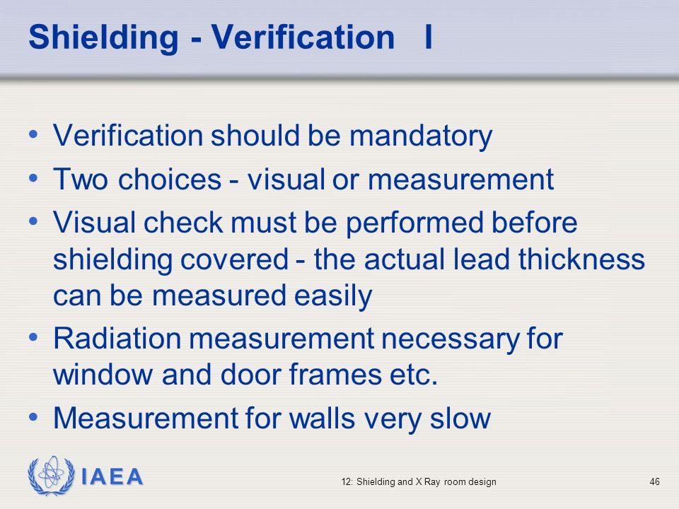 Shielding - Verification I