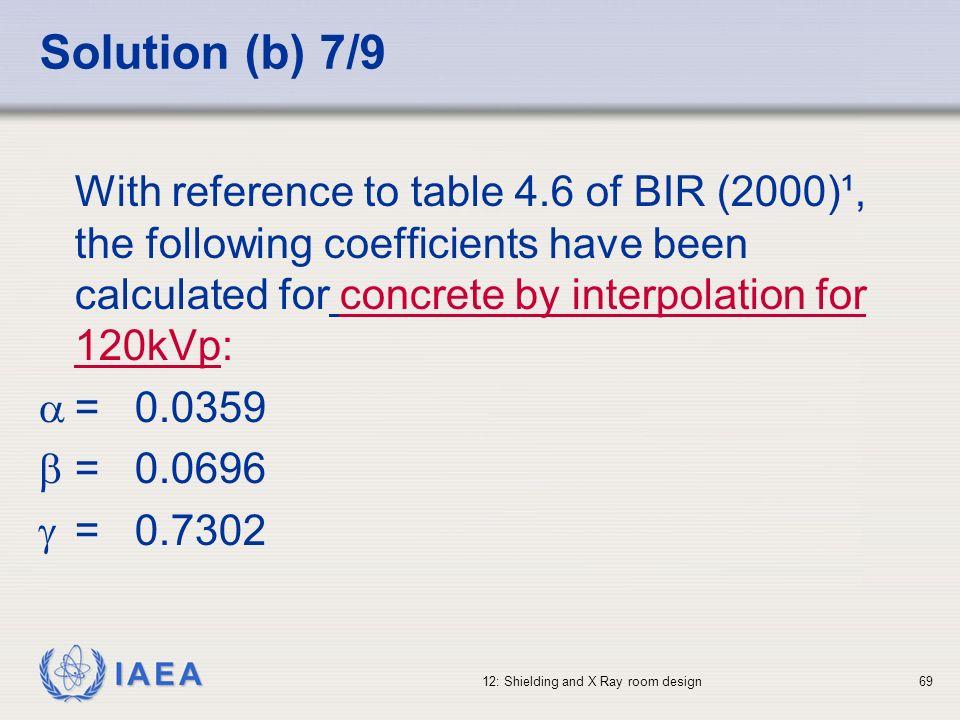Solution (b) 7/9
