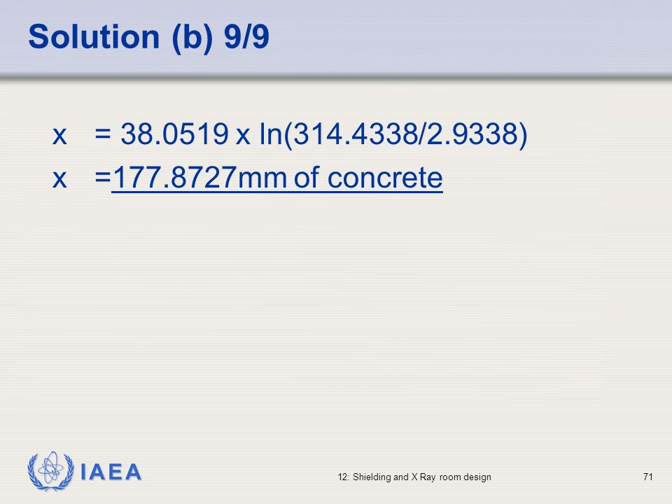 Solution (b) 9/9 x = 38.0519 x ln(314.4338/2.9338)