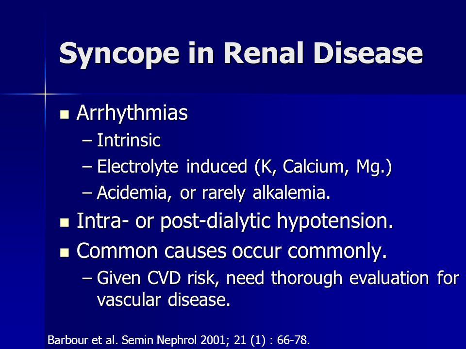 Syncope in Renal Disease
