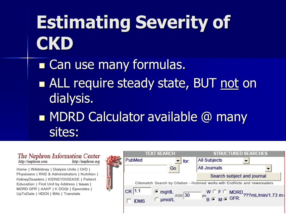 Estimating Severity of CKD