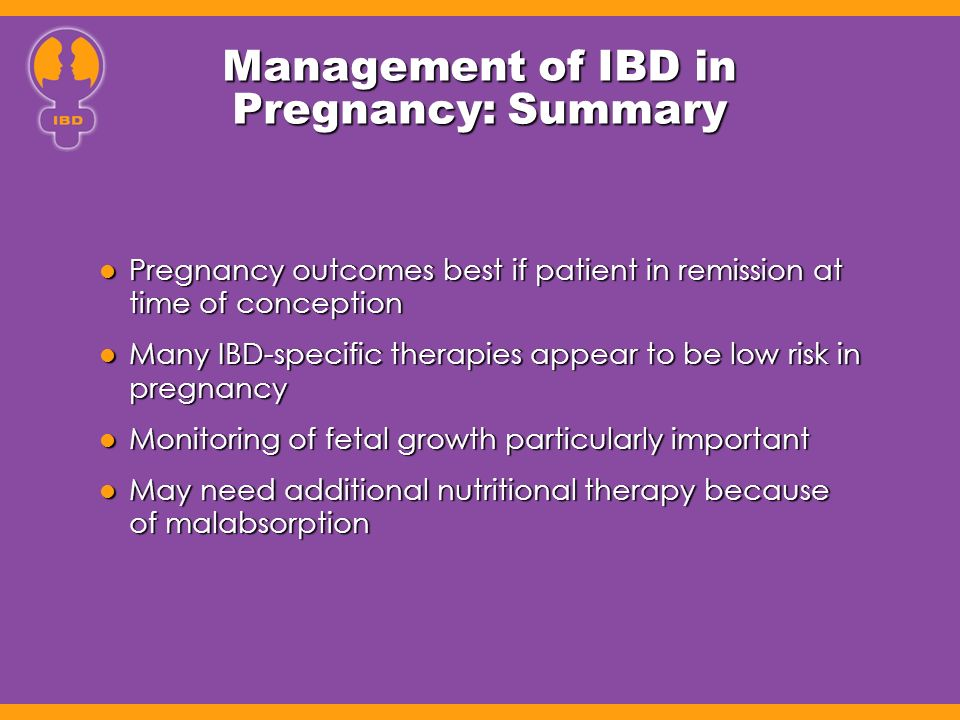 Management of IBD in Pregnancy: Summary