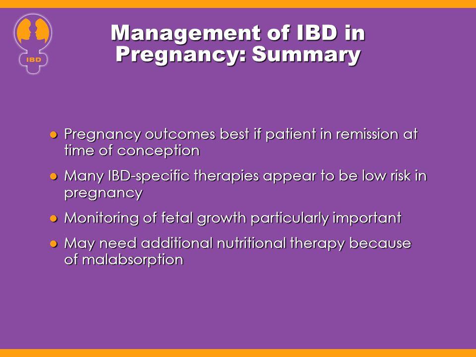 Management of IBD in Pregnancy: Summary