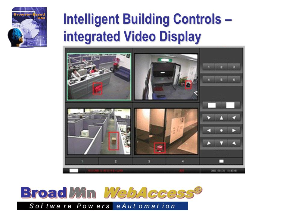 Intelligent Building Controls – integrated Video Display