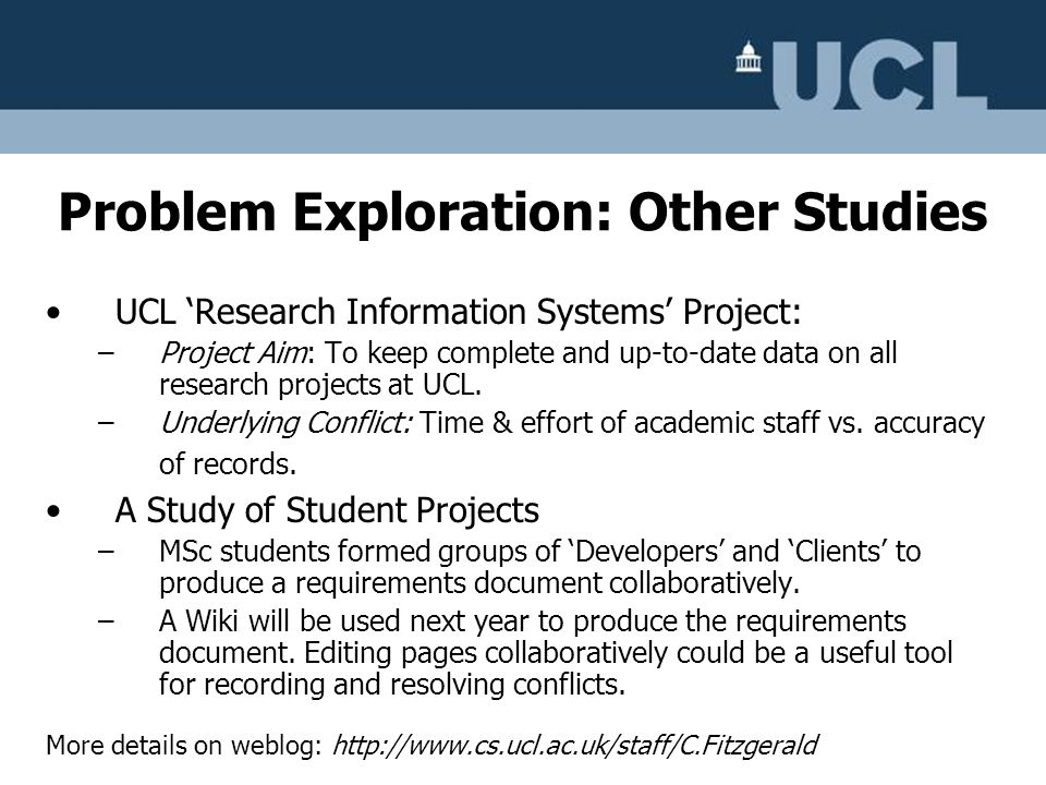 Problem Exploration: Other Studies