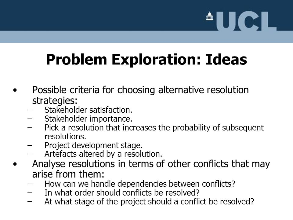 Problem Exploration: Ideas