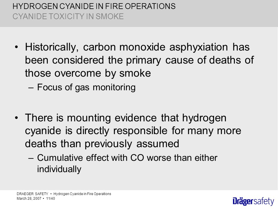 CYANIDE TOXICITY IN SMOKE