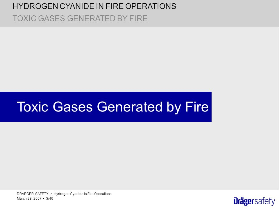 Toxic Gases Generated by Fire