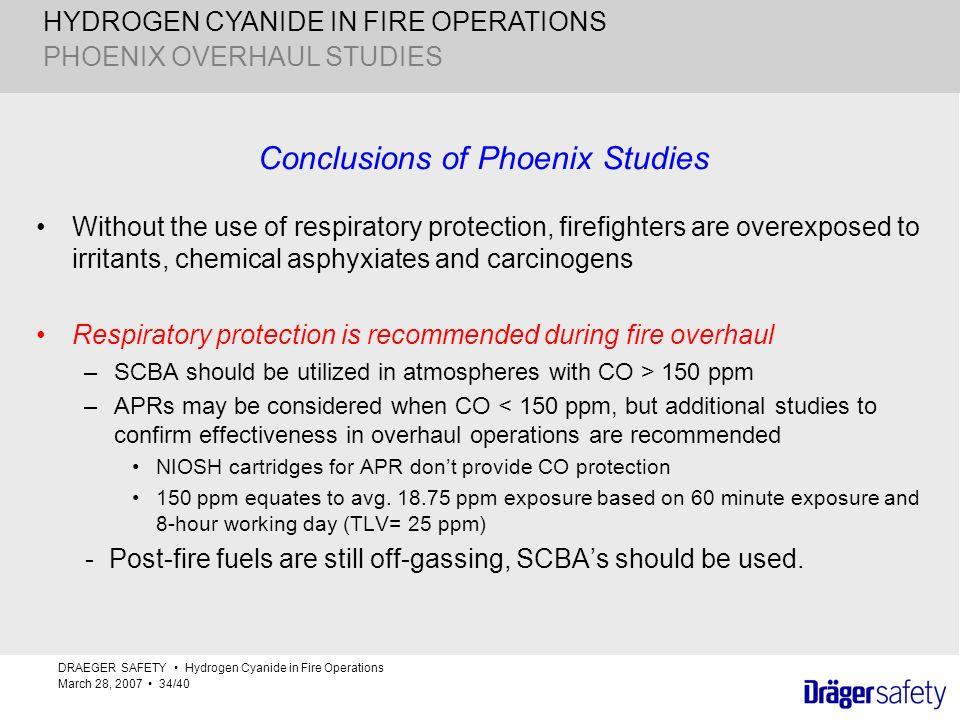 Conclusions of Phoenix Studies