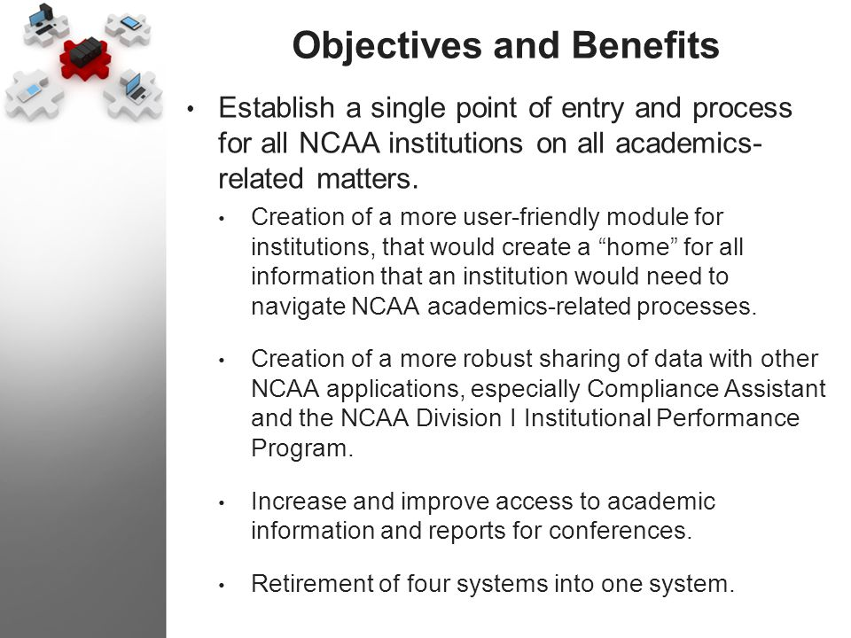 Objectives and Benefits