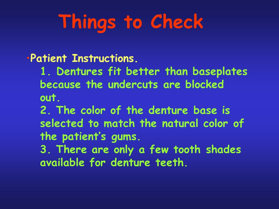 Things to Check Patient Instructions.