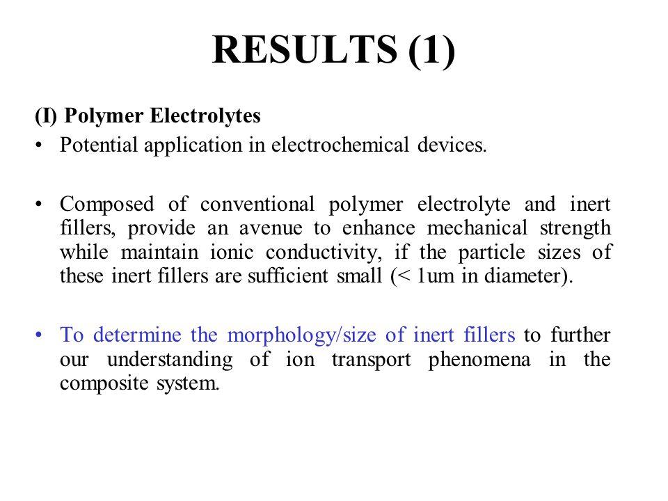 RESULTS (1) (I) Polymer Electrolytes