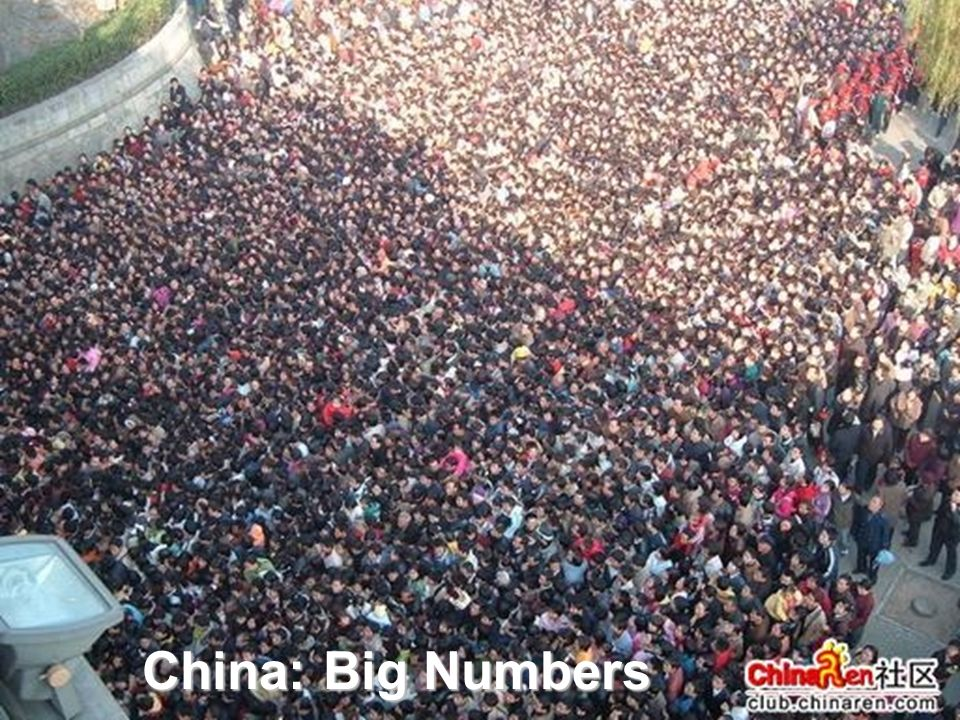 China: Big Numbers