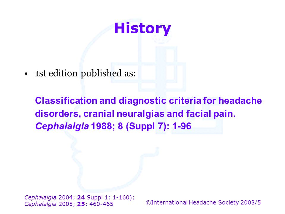 History 1st edition published as: