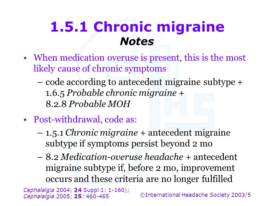 1.5.1 Chronic migraine Notes
