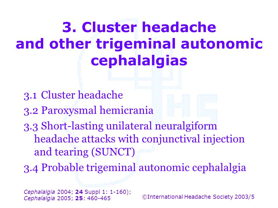 3. Cluster headache and other trigeminal autonomic cephalalgias