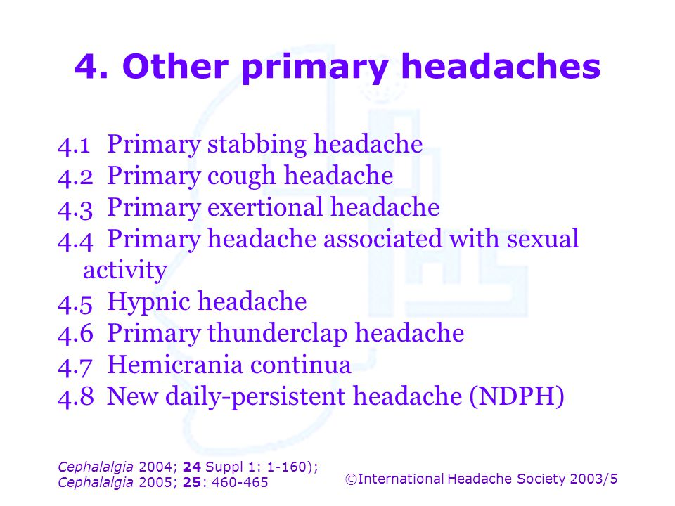 4. Other primary headaches