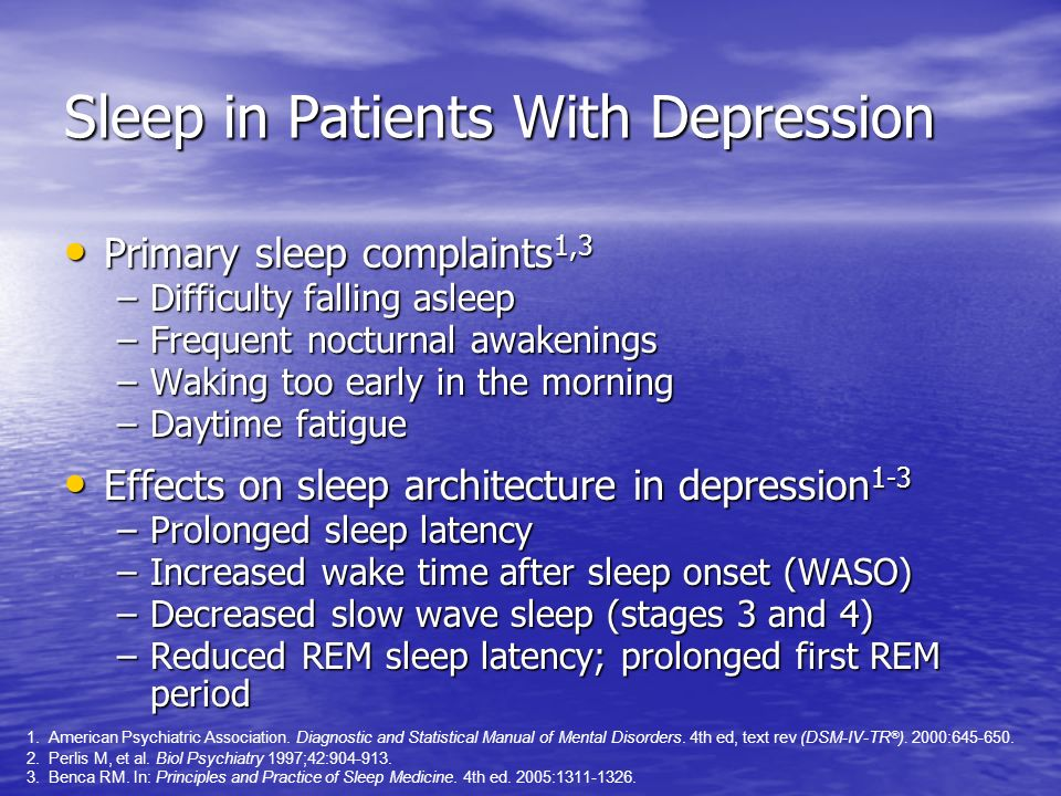 Sleep in Patients With Depression