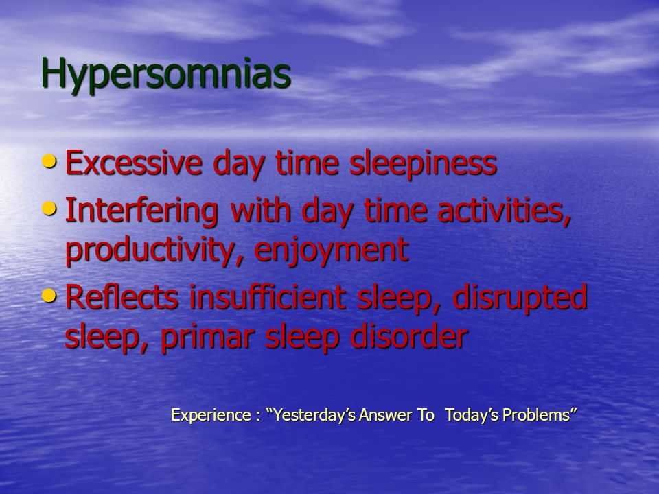 Experience : Yesterday's Answer To Today's Problems