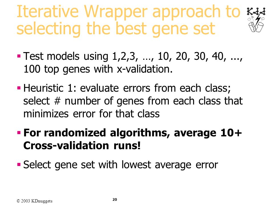 Iterative Wrapper approach to selecting the best gene set