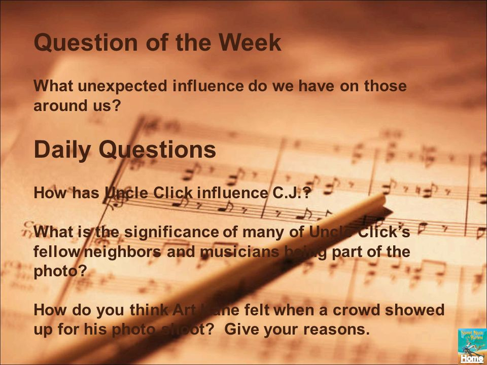 Question of the Week Daily Questions