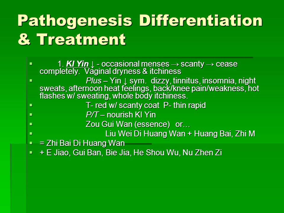 Pathogenesis Differentiation & Treatment