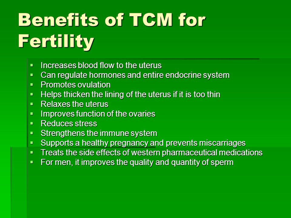 Benefits of TCM for Fertility