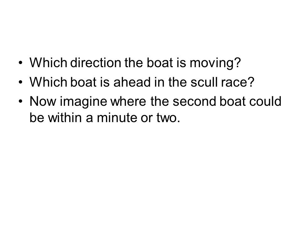 Which direction the boat is moving