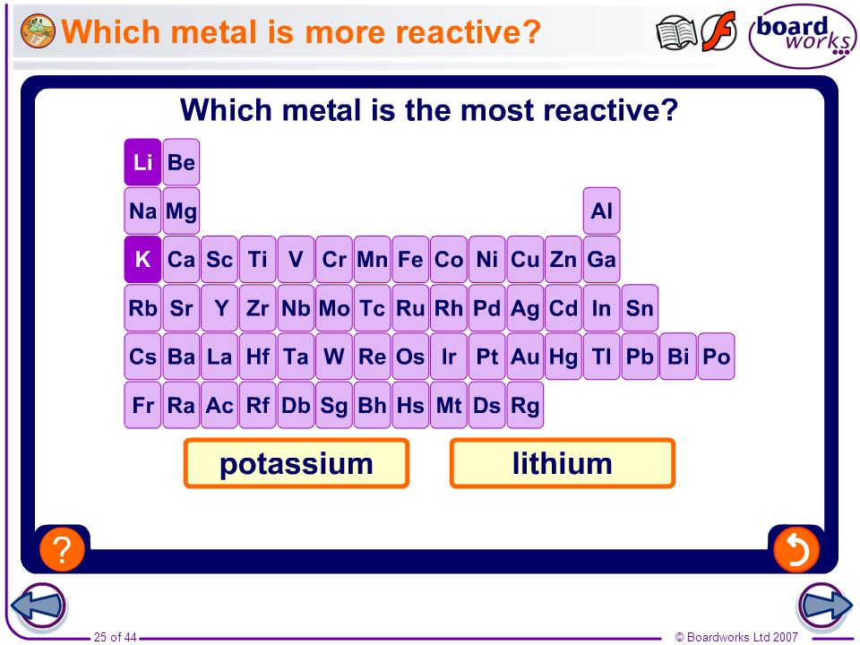 Which metal is more reactive