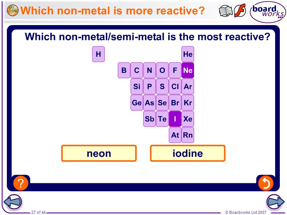 Which non-metal is more reactive