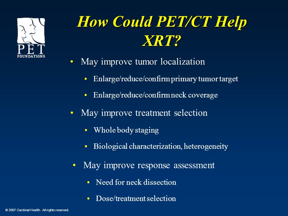 How Could PET/CT Help XRT