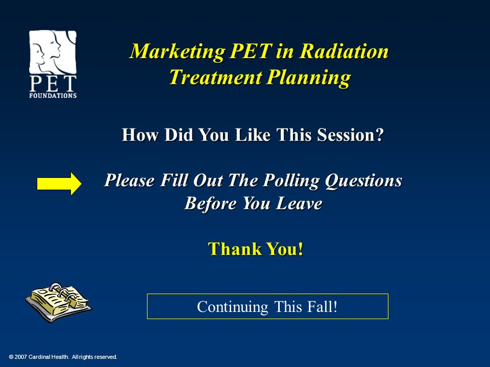 Marketing PET in Radiation Treatment Planning