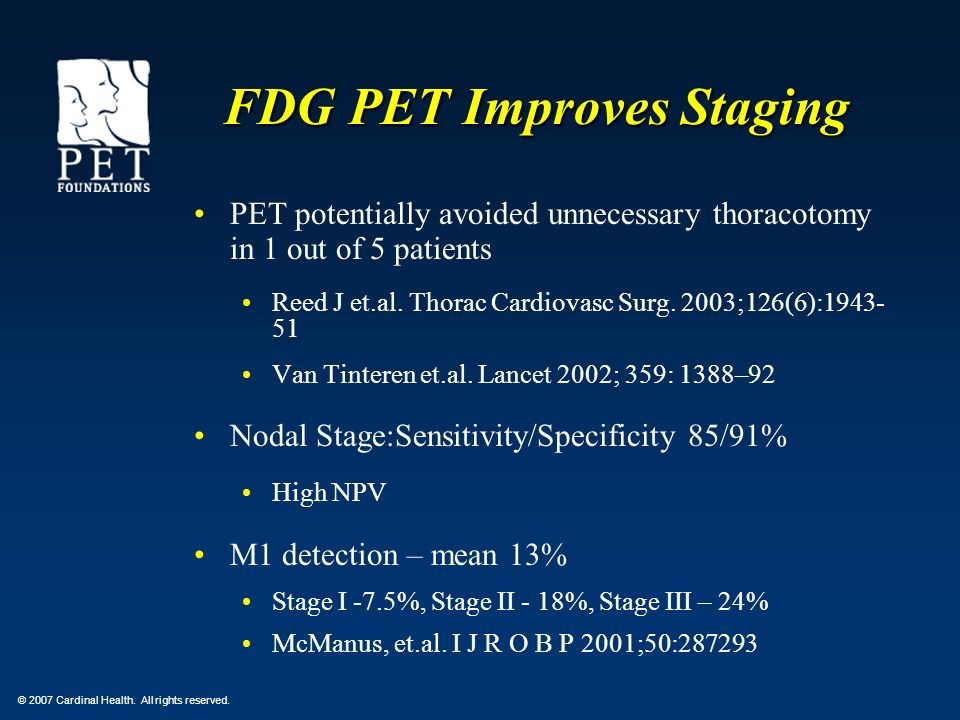 FDG PET Improves Staging