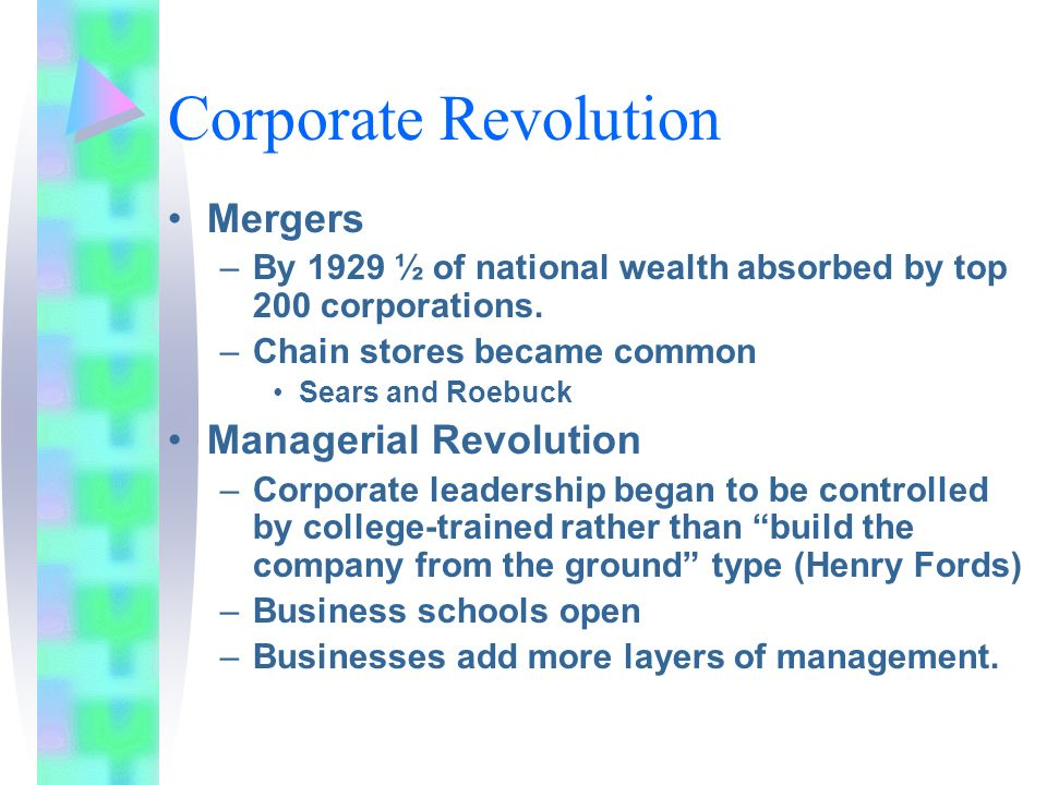 Corporate Revolution Mergers Managerial Revolution