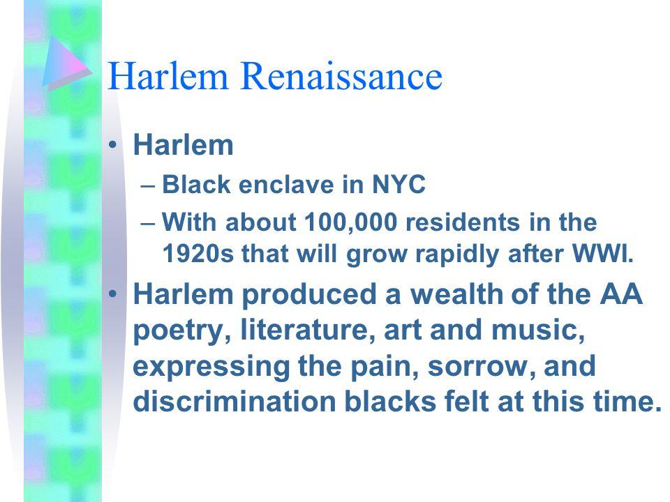 Harlem Renaissance Harlem