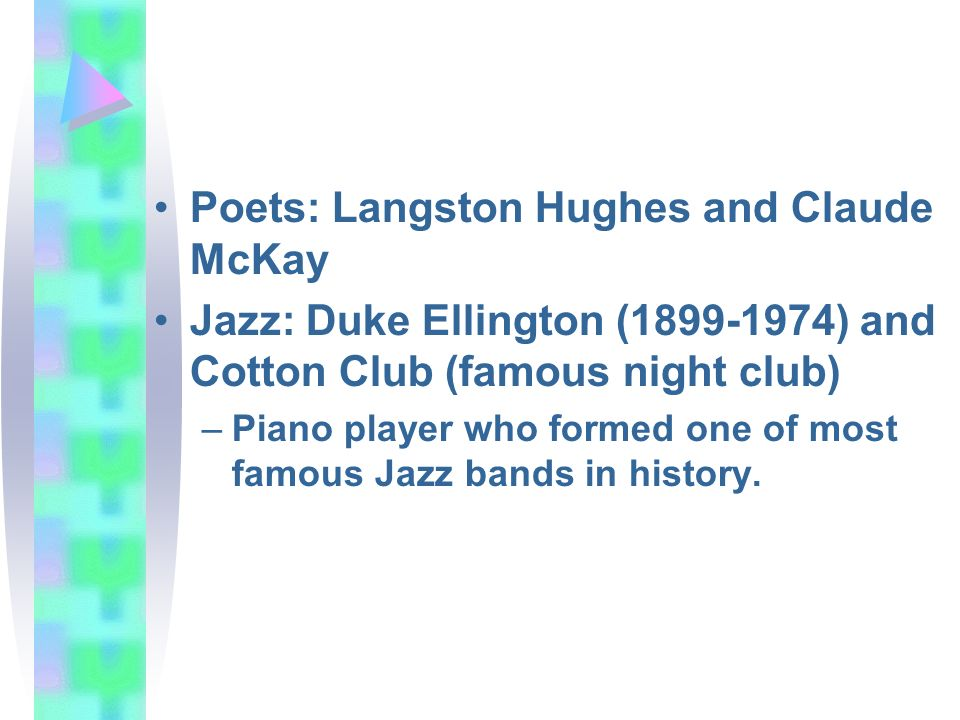 Poets: Langston Hughes and Claude McKay