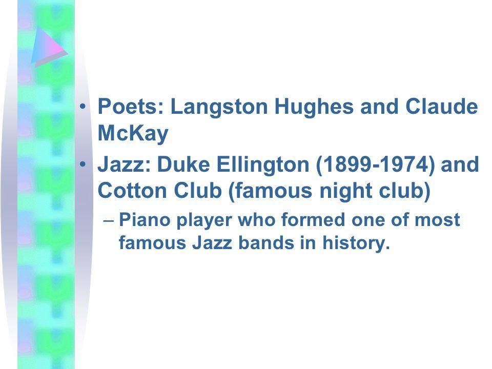 Poets: Langston Hughes and Claude McKay