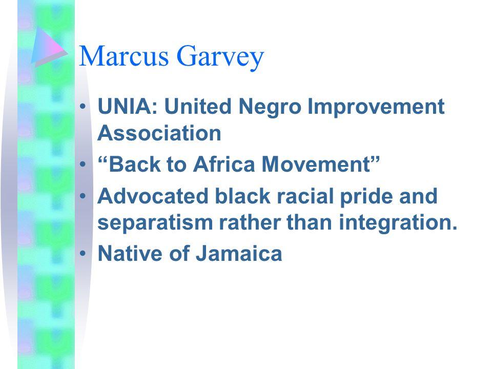 Marcus Garvey UNIA: United Negro Improvement Association