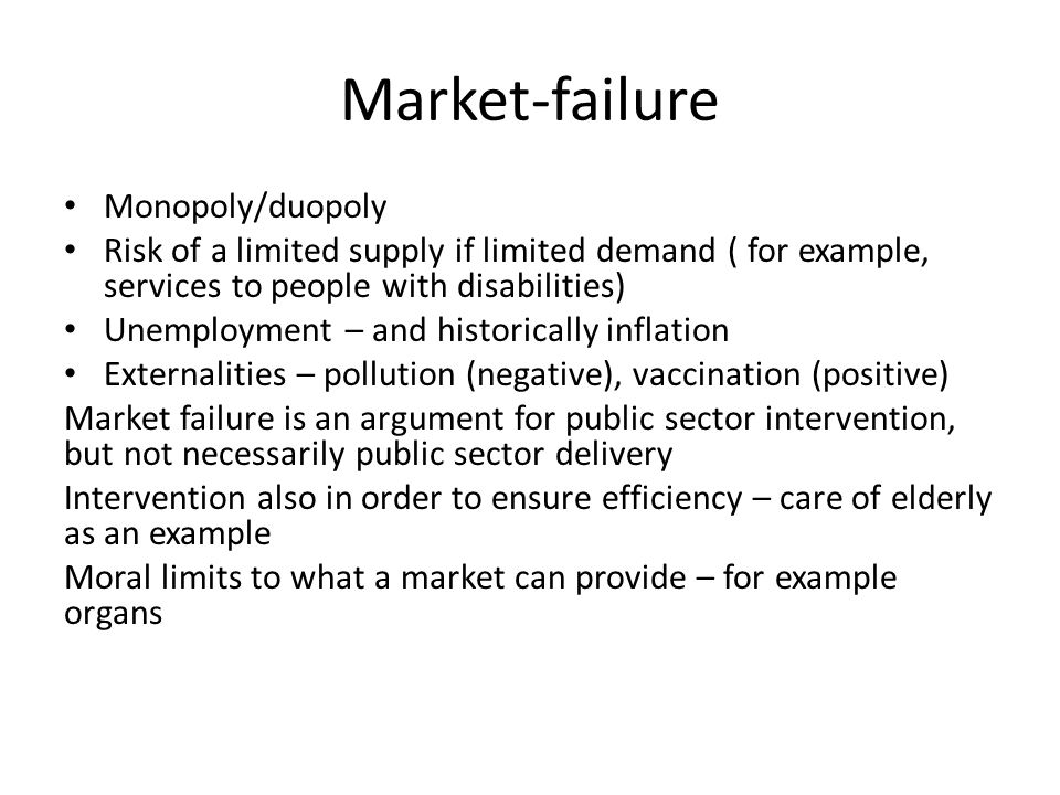 Market-failure Monopoly/duopoly