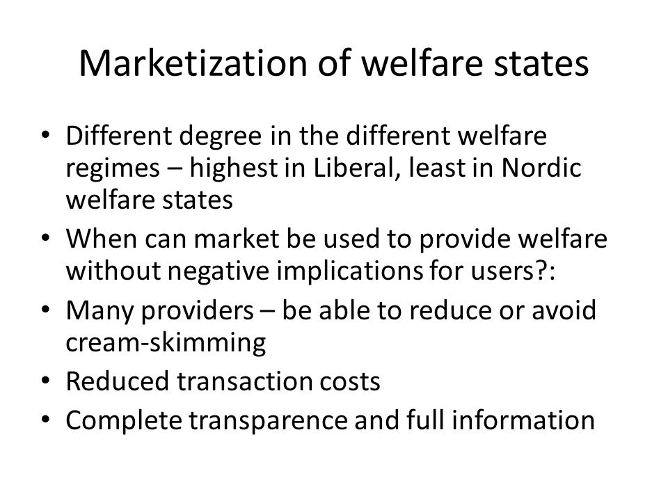 Marketization of welfare states
