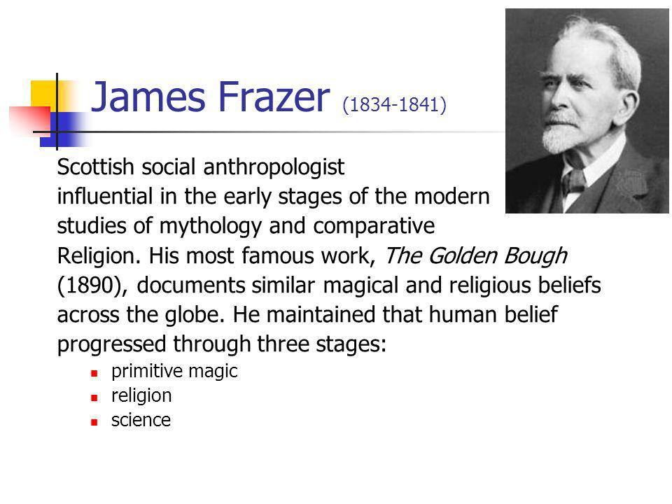 James Frazer (1834-1841) Scottish social anthropologist