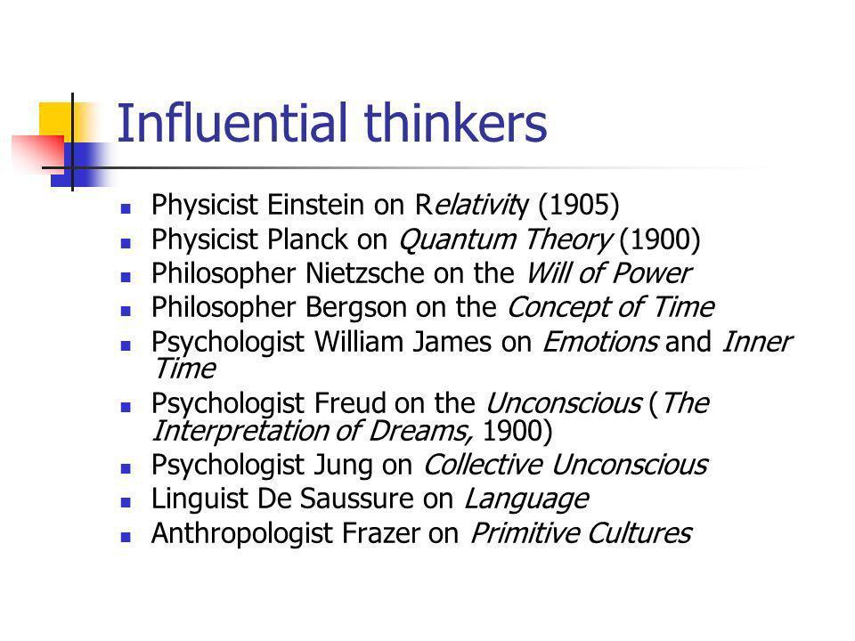 Influential thinkers Physicist Einstein on Relativity (1905)