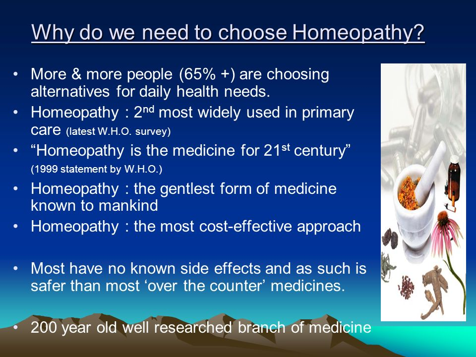 Why do we need to choose Homeopathy