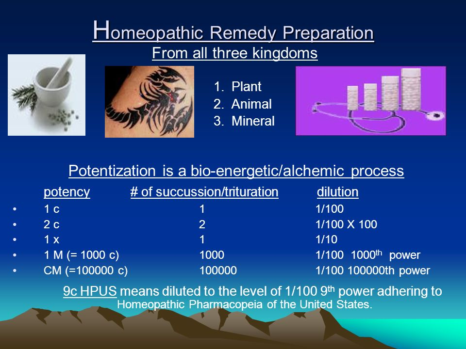 Homeopathic Remedy Preparation